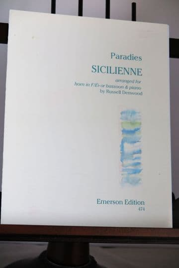 Paradies D - Sicilienne for Horn (or Bassoon) & Piano